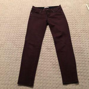Free People Burgundy pants size 25